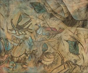 Insectos, 1999, óleo sobre tela BAJA